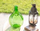 RESERVED for Mary Anne - Green 5 Liter Vintage Demijohn - #16 Damigiana - Carboy - Demi John - Wine Jar - Wine Jug