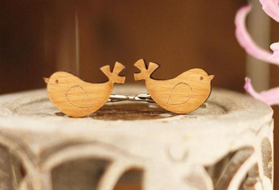Bird Hairclips (Wooden)