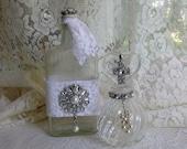 Embellished Bottles, Set Of Two, Marie Line