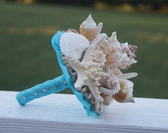Bridesmaid Seashell Bouquet / Beach Bouquet/ Destination Bouquet/ Seaside Bouquet/ Summer Bouquet/ Wedding Bouquet