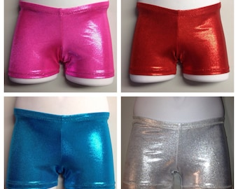 Gymnastics Shorts-many different mystique colors to choose from, youth sizes 2-13.