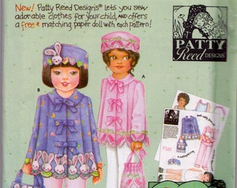 Simplicity 5147 Child's Coat, Hat and Purse Pattern, UNCUT, Size 3-4-5-6, Patty Reed Designs