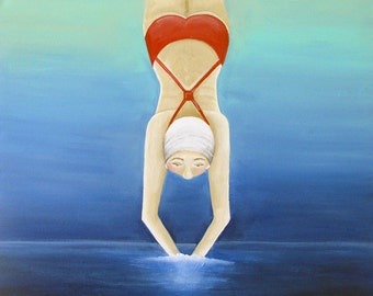 The Diver - original painting