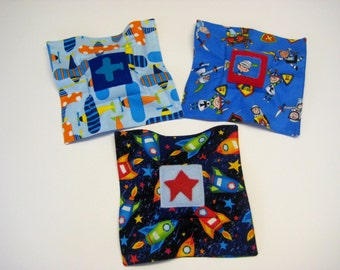 Boys Tooth Fairy Pillow - Planes or Rockets, Tooth Keepsake Pillow, Tooth Fairy Pouch
