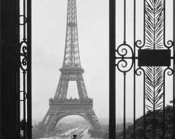 Cross Stitch Pattern - Eiffel Tower 2  -  PDF - Instant Digital Download