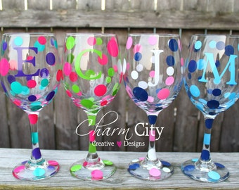 Personalized Wine Glass 20 oz Bachelorette Party, Birthday, Wedding, Bride