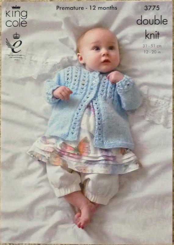 Lace Yoke Knitting Pattern : Baby Knitting Pattern K3775 Babies Lace Yoke Dress ...