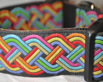 "Celtic Knot - Colorful 1.5"" Adjustable Dog Collar"