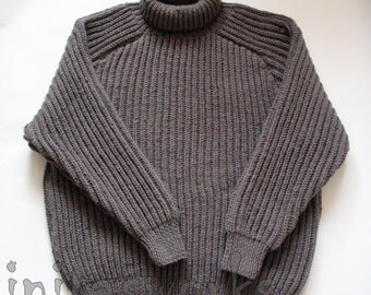 SALE Metal Gray Sweater unisex 4XL mens knit