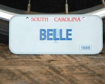 Vintage Mini Bike Plate 1989 Cereal Promotion Belle South Carolina