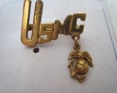 USMC Sweet Heart Pin with Card Nice with EGA