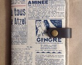 Vintage French Newspaper Wallet
