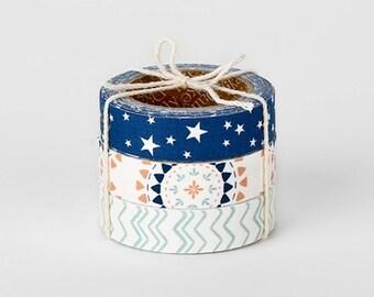 Decorative Adhesive Fabric Masking  Tape- Camping (3 Set)