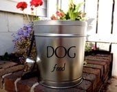 Pet Food Storage Tin- small size