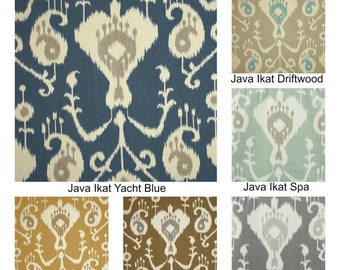 Ikat Java Rod Pocket Curtains Drapery Panels 63 72 84 96 108 or 120 Long by 24 or 50 Wide