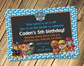 Paw Patrol Inspired Birthday Invitation With Photo Option Print Your Own