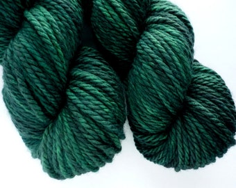 Bulky Yarn - Hand Dyed Superwash Merino Wool in Emerald Isle Colorway