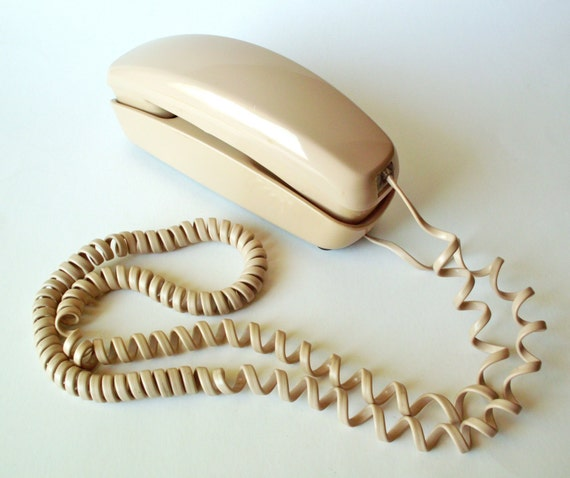 Vintage Western Electric Trimline Rotary Phone, Flesh Tone