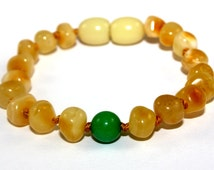 Baltic Amber Teething Bracelet or Anklet for Baby