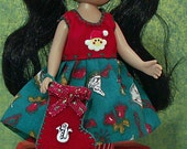 "Santa Smiles for Tiny 8"" Betsy McCall or Ann Estelle or Kickit Dolls by JDL Doll Clothes"