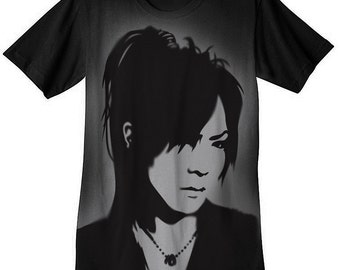 Kai Shirt airbrushed with stencils The Gazette jrock visual kei