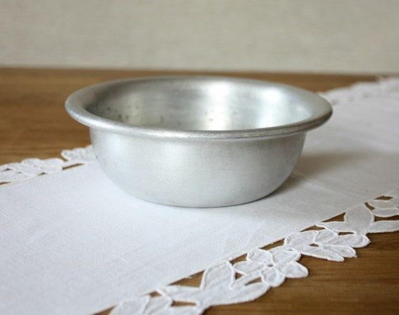 Vintage Aluminium Bowl Metal Bowl Rustic Kitchen Decor
