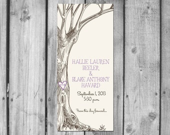 Love Tree Wedding Programs