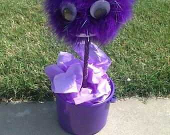 Purple Minion Topiary Decoration - minion decoration minion party birthday decoration birthday party