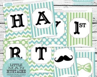 Little Man Mustache Banner, Little Man Banner, Little Mister Banner, Mustache Banner, Moustache Banner