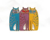 Laurel Burch Siamese Cats Brooch Pin - Retired Design and Discontinued Line - Vintage