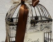 Gorgeous Little Wedding Birdcage Card Holder / Wedding Card Box / Fall Wedding / Autumn Wedding / Home Decor - ThoseDays