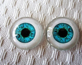 Doll eyes glass eyes for jewelry or sculpture 20mm cabochons