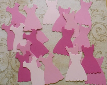 Stampin Up Dress Up Paper Piecing Shapes from Stampin Up Die - Pink Shades Cardstock for cards Crafts