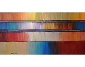 ORIGINAL ABSTRACT Painting Impasto Large 24x48 Acrylic Art and Collectibles By Thomas John