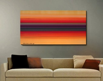 ABSTRACT ORIGINAL Painting Large 24x48 Ready to Hang  Fine Art by Thomas John