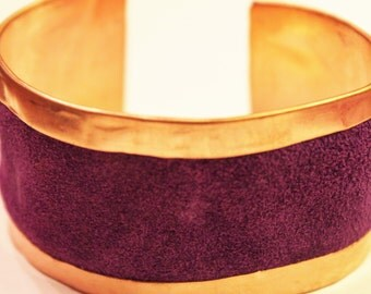 Purple Suede Cuff