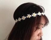 Daisy Headband - Flower headband, Floral Headband, Coachella EDC Headband Accessories, EDC hair, hippie