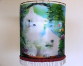 White kittens with blue eyes image three dimensions,cute  lighting for  children room