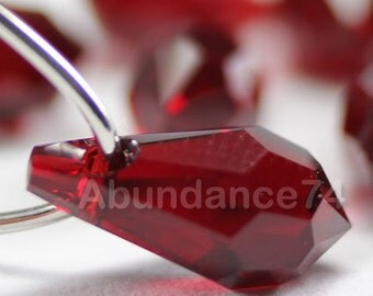 6pcs Swarovski Crystal 6000 13mm Teardrop Pendant Siam
