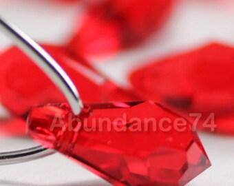 6pcs Swarovski Crystal 6000 15mm Teardrop Pendant Light Siam