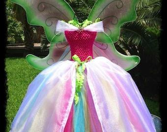 Fairy Tutus Fairy Tutu Dress Princess Tutu Dress Birthday Tutus Rainbow Tutus