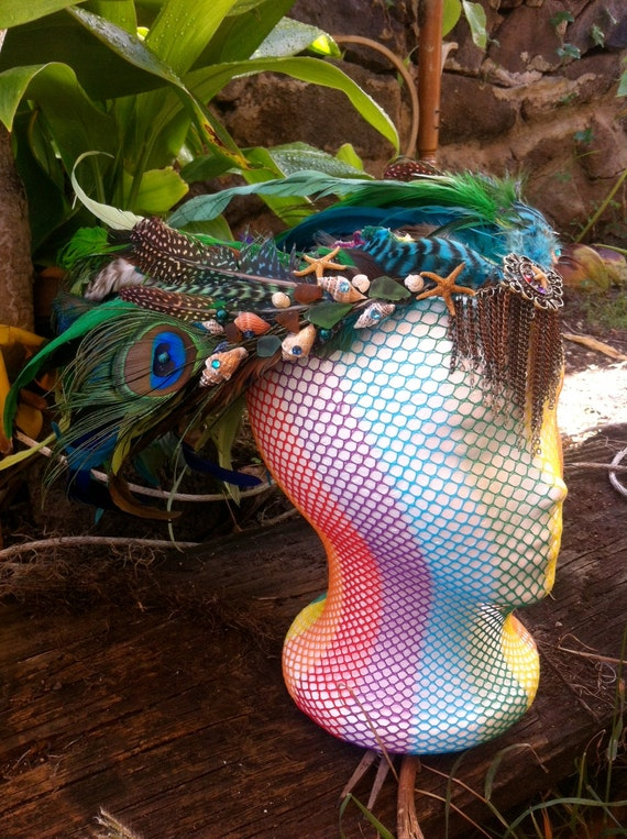 Customized headdress - Aloha Goddess of the sea headdress/crown