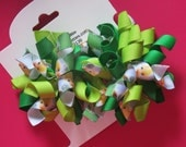 Hair Bow Set - Small Tinkerbell Korkers