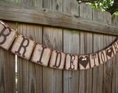 Bride To Be Banner, Rustic Burlap Wedding Garland, Burlap Engagement Decoration, Miss To Mrs Party Decoration, Bridal Shower Decor