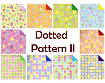 Dotted Pattern II Double Sided Origami Paper - 20 Sheets