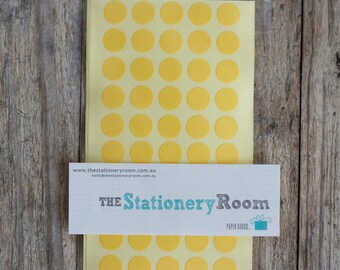 Mini Pastel Yellow Circle Stickers - 1cm Circle Label Sticker Seals - 200 Blanks per set