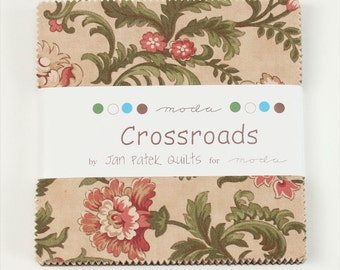 Crossroads Fabric Collection by Jan Patek for Moda Fabrics - 1 Charm Pack