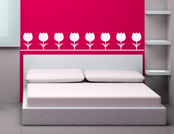 tulip border wall stickers - photo #6