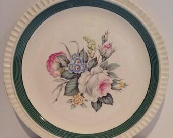 "Vintage Salem China Co Antoinette Pattern  Made in USA 10"" dinner plates  25% reduced"
