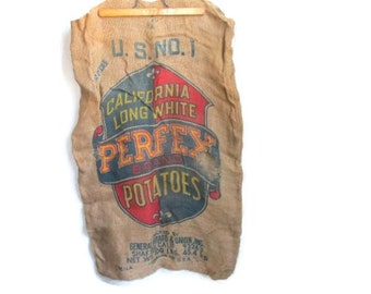 Vintage Burlap Sack Potato Bag